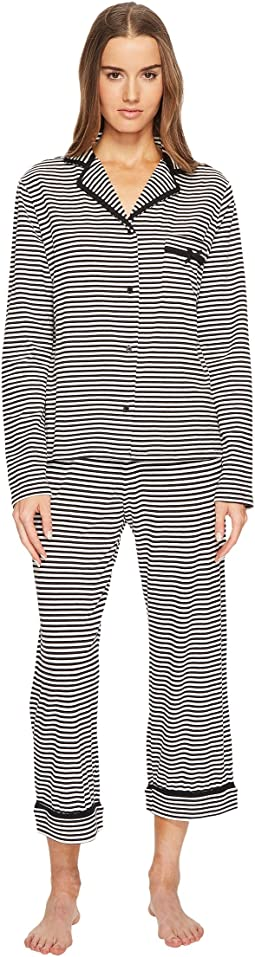 Kate Spade New York - Spring Stripe Cropped Pajama Set