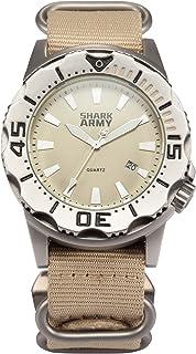 HELMASK watch - Stainless Steel Khaki Round man mens Analog Date quartz Wrist Watch