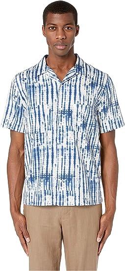 Shibori Printed Cabana Short Sleeve