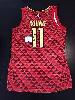 2a1b9b12cf6 Trae Young Autographed Jersey - Beckett BAS Cert - Beckett Authentication - Autographed  NBA Jerseys