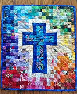 Rainbow Cross Wall Hanging Quilt Pattern, by Cut Loose Press and Natural Comforts Quilting