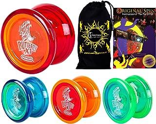 Duncan BUTTERFLY XT YoYo Set - Ideal for Beginners + Original Spin DVD + Travel Bag! C-Bearing Axle Intermediate Yo-Yo.