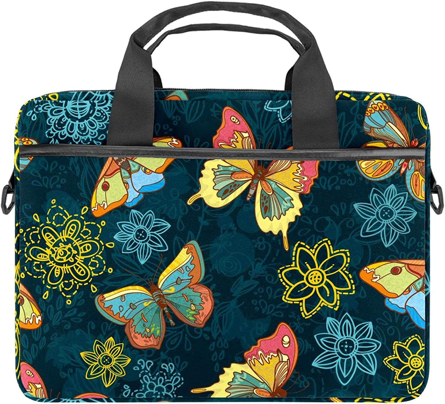 Butterflies And El Paso Mall We OFFer at cheap prices Flowers Laptop Shoulder Sleev Case Bag Messenger