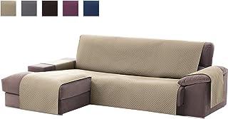 Textilhome - Funda Cubre Sofá Chaise Longue Adele, Protector para Sofás Acolchado Brazo Izquierdo. Tamaño -200cm. (Visto DE Frente)