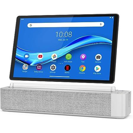 "Lenovo Smart Tab M10 Plus, FHD 10.3"" Android Tablet, Alexa-Enabled Smart Device, Octa-Core Processor, 32GB Storage, 2GB RAM, Wi-Fi, Bluetooth, ZA6M0030US, Platinum Grey"