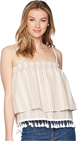 Brielle Stripe Top with Tassel Trim