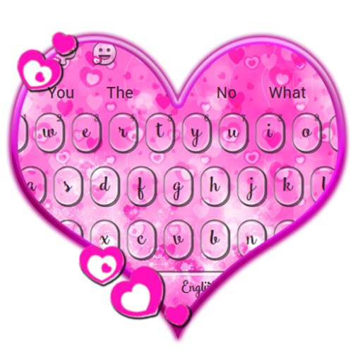 Pink Heart Keyboard Theme