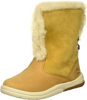 Timberland 儿童幼童田径仿羊皮靴时尚靴子