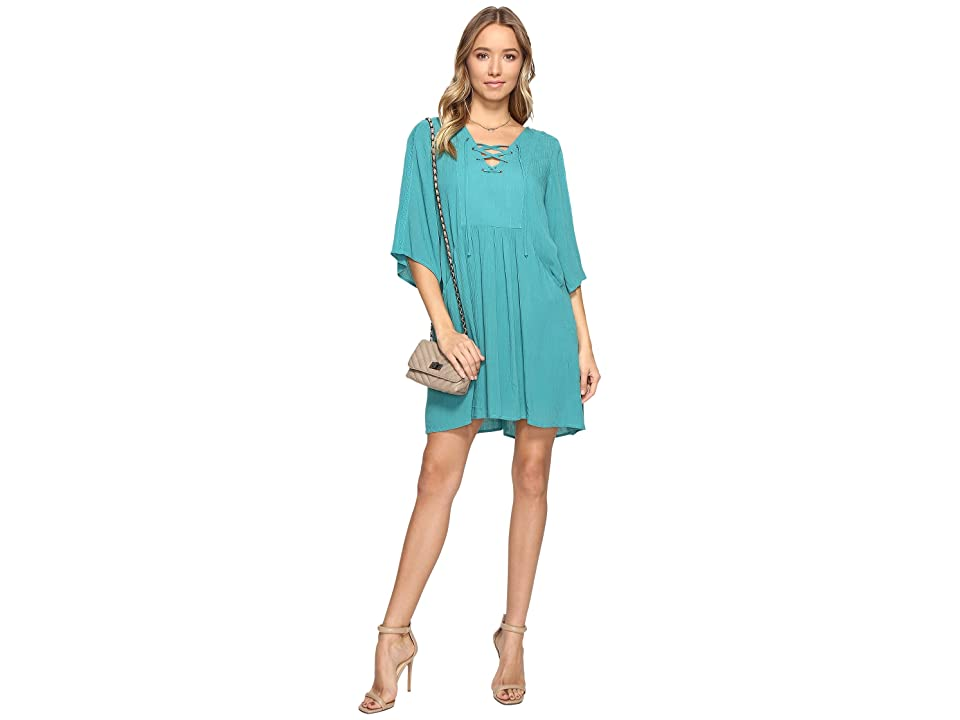 Jack by BB Dakota Becton Lace-Up Dress (Jade Green) Women