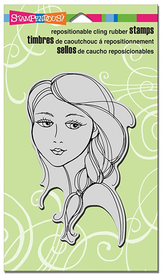 STAMPENDOUS CRR247 Beautiful Braid Cling Stamp, 7.75