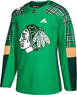 adidas Chicago Blackhawks NHL 2018 Mens St. Patrick's Day Authentic Practice Jersey