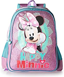Minnie School Backpack for Girls - Multi Color