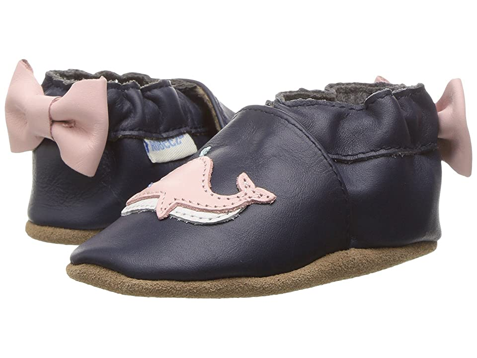 Robeez Winnie the Whale Soft Sole (Infant/Toddler) (White Pattern) Girl