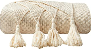 Adory Sweety Throw Blanket Ultra Soft Natural Premium for Couch Sofa Bed with Handmade Tassels for Couch Chairs Bed Beach Sofa Picnic,50 x 60 inch,As Gift with Free Washing Bag (Beige)