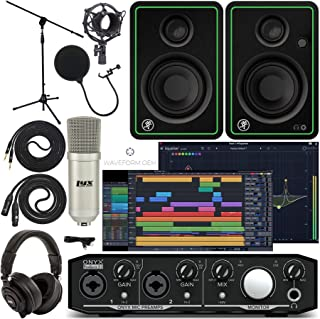 Mackie Onyx Producer 2-2 Audio/Midi interface With Pro Tools First/Tracktion Music Production Software, CR4-X Monitor Pair...