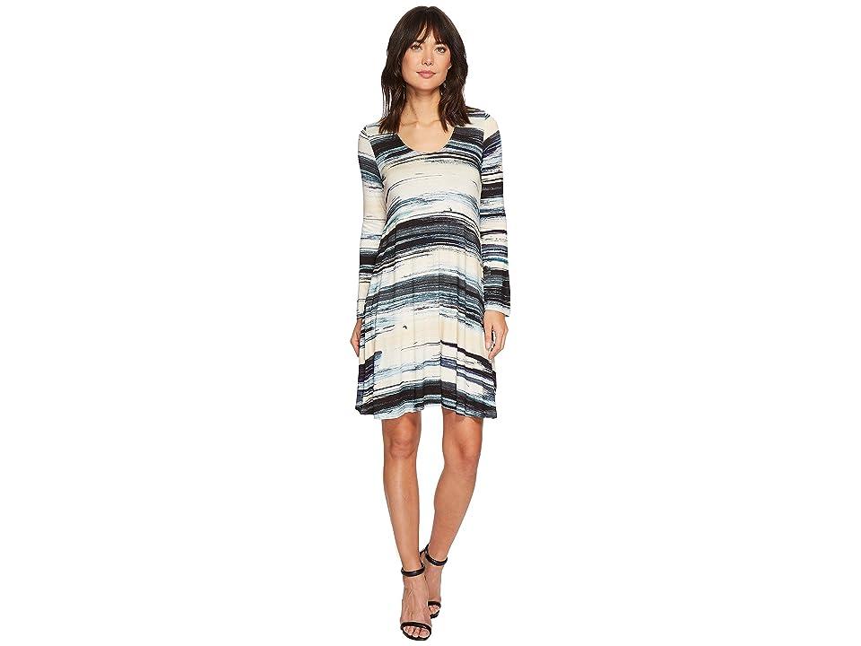 Karen Kane Brushstroke Taylor Dress (Print) Women