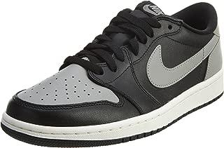 Mens Air Jordan 1 Retro Low OG Shadow Black/Medium Grey-Sail Leather Size 12