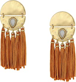 Silk Cord Statement Earrings