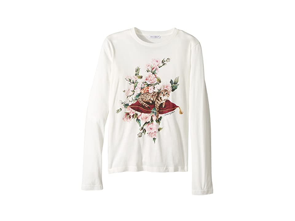 Dolce & Gabbana Kids City Zambia T-Shirt (Big Kids) (White) Girl