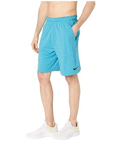 Nike Dri-FIT Heathered 9 Training Short (Light Blue Fury/Black) Men