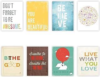 comprar comparacion Children Inspire Design inspiración tarjetas de pared colección mini 5 x 7, tipografía, decoración cuarto de niños, impres...