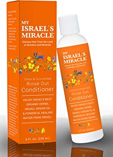 Herbal Conditioner – My Israel's Miracle Clean & Connected Rinse Out Conditioner with Argan Oil – Powerful Organic Haircare Herbs from Israel