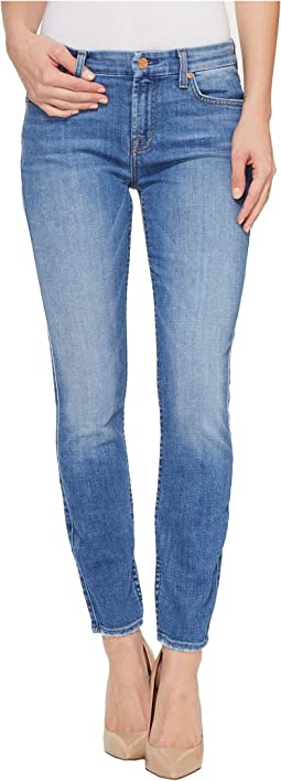 The Ankle Skinny w/ Grinded Hem in Adelaide Bright Blue