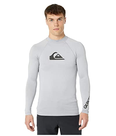 Quiksilver All Time Long Sleeve Rashguard (Light Grey Heather) Men