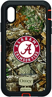 Fan Brander NCAA Black Phone case with Realtree Background, Compatible with Apple iPhone Xs Max and with OtterBox Defender Series