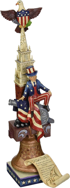 "Jim Shore Heartwood Creek Stacked Patriotic Pride Stone Resin Figurine, 12.5"""