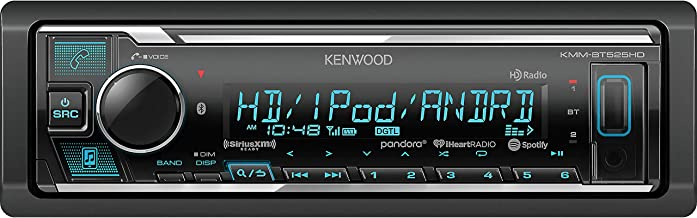 Kenwood KMM Single-DIN in-Dash MP3 Digital Media Receiver with Bluetooth, HD Radio and SiriusXM Ready