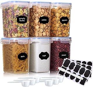 JOLIGAEA 6 Pcs Boîte de Conservation Alimentaire(1.6L), Boîtes de Rangement pour Céréales sans BPA, Récipient de Stockage ...