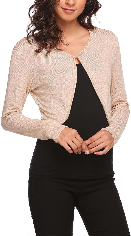 Hotouch Shrug Max 72% OFF Bolero Cardigan Nashville-Davidson Mall for Womens Sleeve Short Long Littl