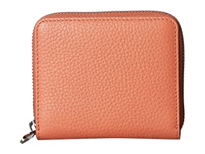 ECCO SP 3 Small Zip Around Wallet (Apricot) Wallet Handbags
