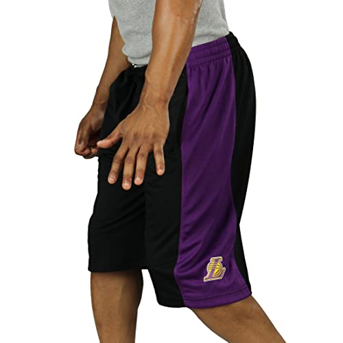 ab4b8ae7f Zipway Los Angeles Lakers NBA Mens Mesh Basketball Shorts