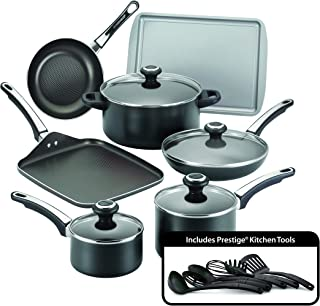 Farberware 21809 High Performance Nonstick Cookware Set, Black