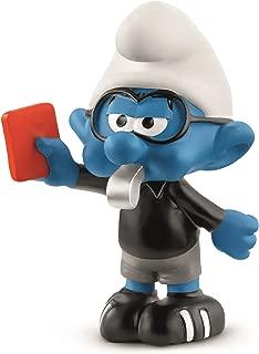 Schleich Soccer Smurf Referee Toy Figurine