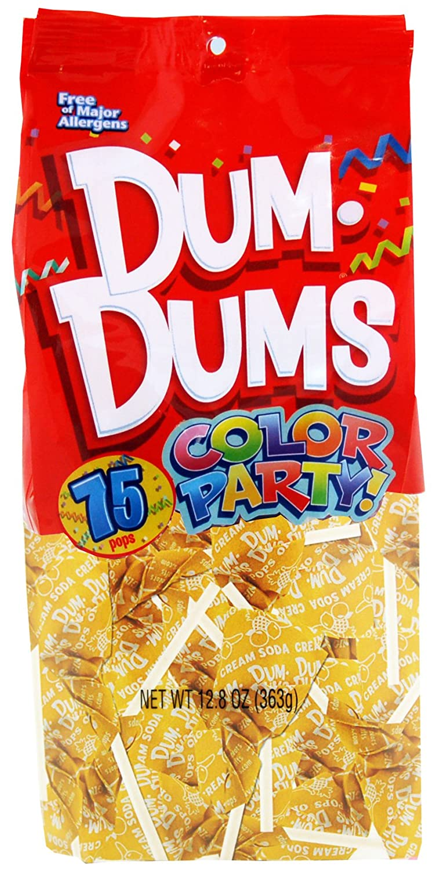 Dum Dums Color shipfree Party Lollipops 12.8 Cream Flavor Soda Yellow 1 year warranty