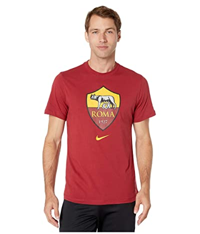 Nike A.S. Roma Evergreen Crest Mock Neck Tee (Team Crimson) Men