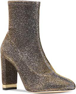 Michael Kors Womens Mandy Closed Toe Stretch Ankle Boot (Metallic Multicolor,6M)