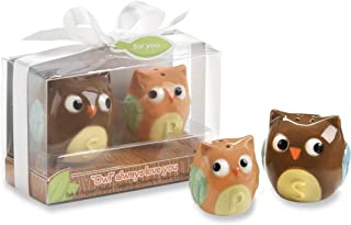 Kate Aspen Ceramic Mother and Baby Bird Salt and Pepper Shakers, Owl Always Love You (Discontinued by Manufacturer)