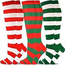 TeeHee Christmas and Holiday Fun Knee High Socks for Women 3 Pair Pack