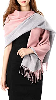 Pashmina Stole Scarf for Women, Thick Warm Cashmere Feel Shawl, Large Oversized Cozy Winter Wrap Blanket 73'' x 26''