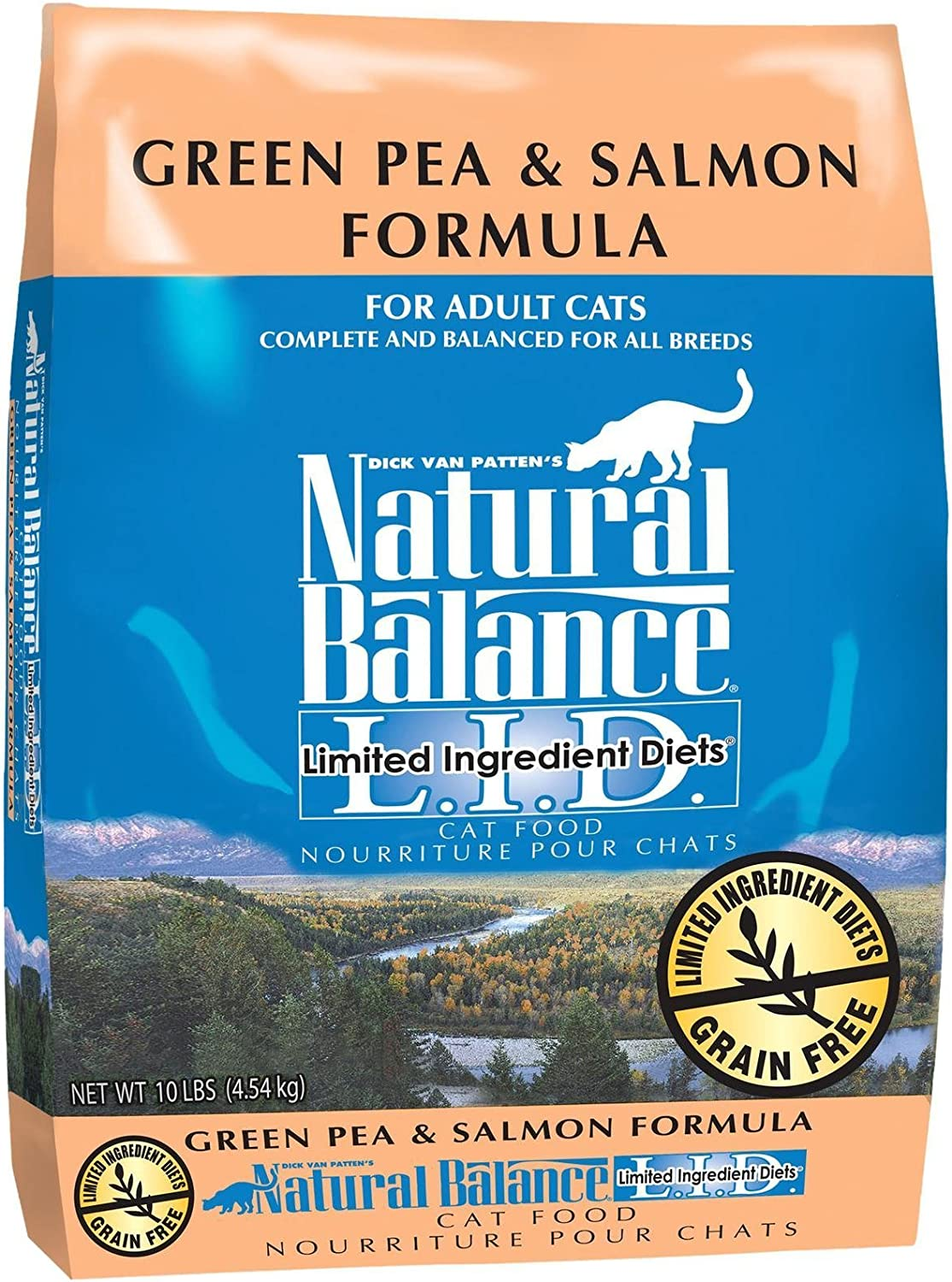 Natural Balance Limited Ingredient Diets Green Pea & Salmon Formula Dry Cat Food  10 lb