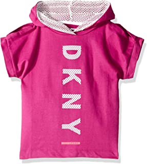 Girls' Big Open Shoulder Hooded T-Shirt