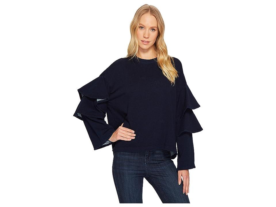 AG Adriano Goldschmied Pearl Ruffle Sweatshirt (Dark Indigo) Women