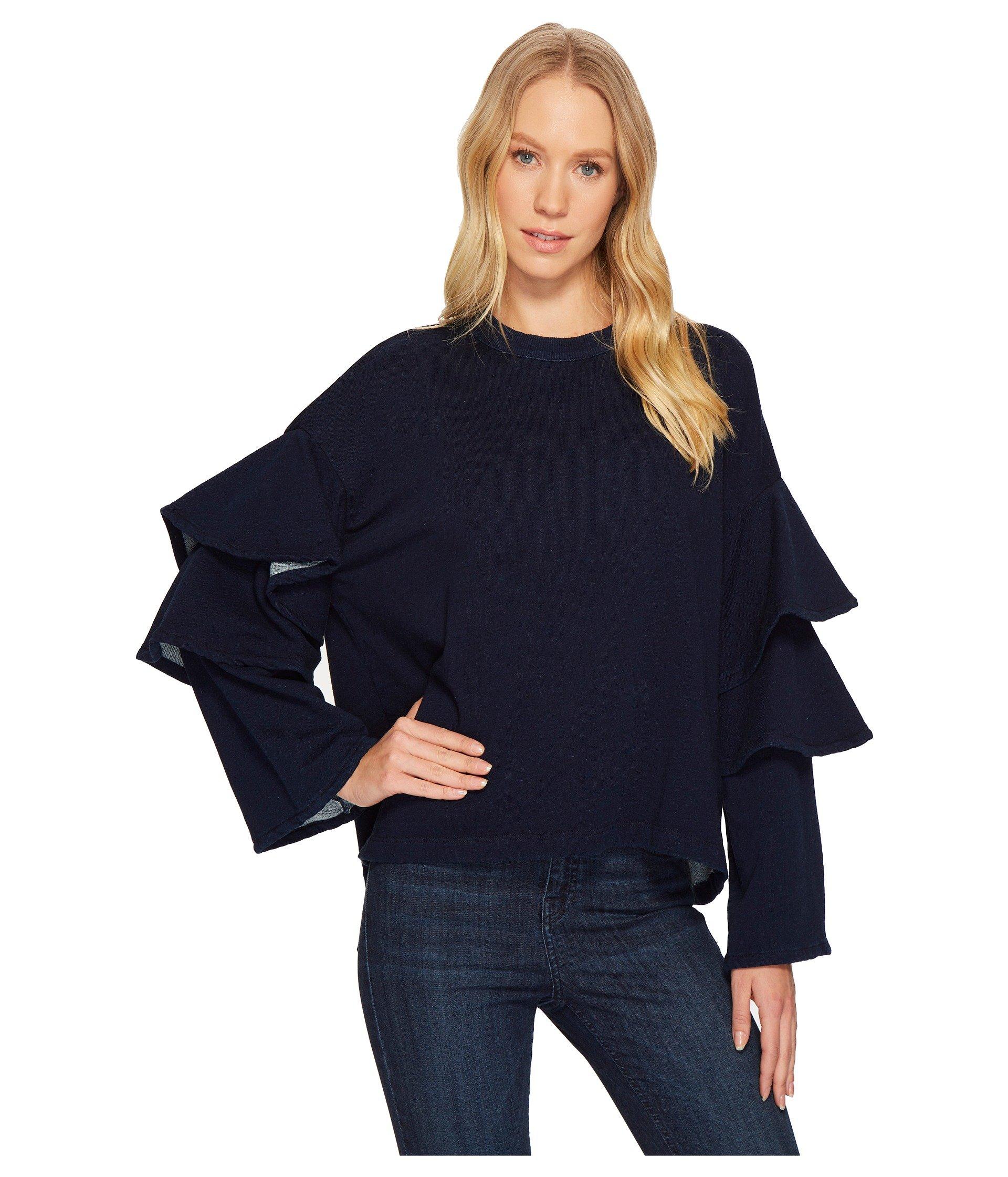Pearl Ruffle Sweatshirt