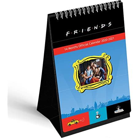 Best Deals Day After Christmas 2021 Mcsid Razz Friends Tv Series Table Calendar 2021 With Free Sticker Monthly Desk Calendar Table