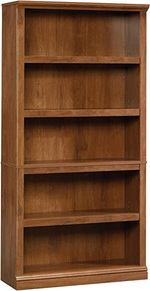 Sauder 410367 5 Shelf Split Bookcase L 35 28 X W 13 23 X H 69 76 Oiled Oak Finish