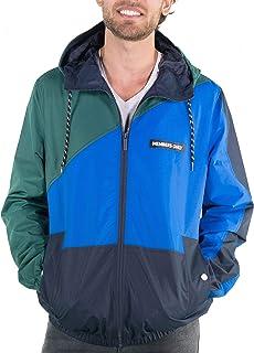 Members Only Men's Asym Color Block Windbreaker Jacket